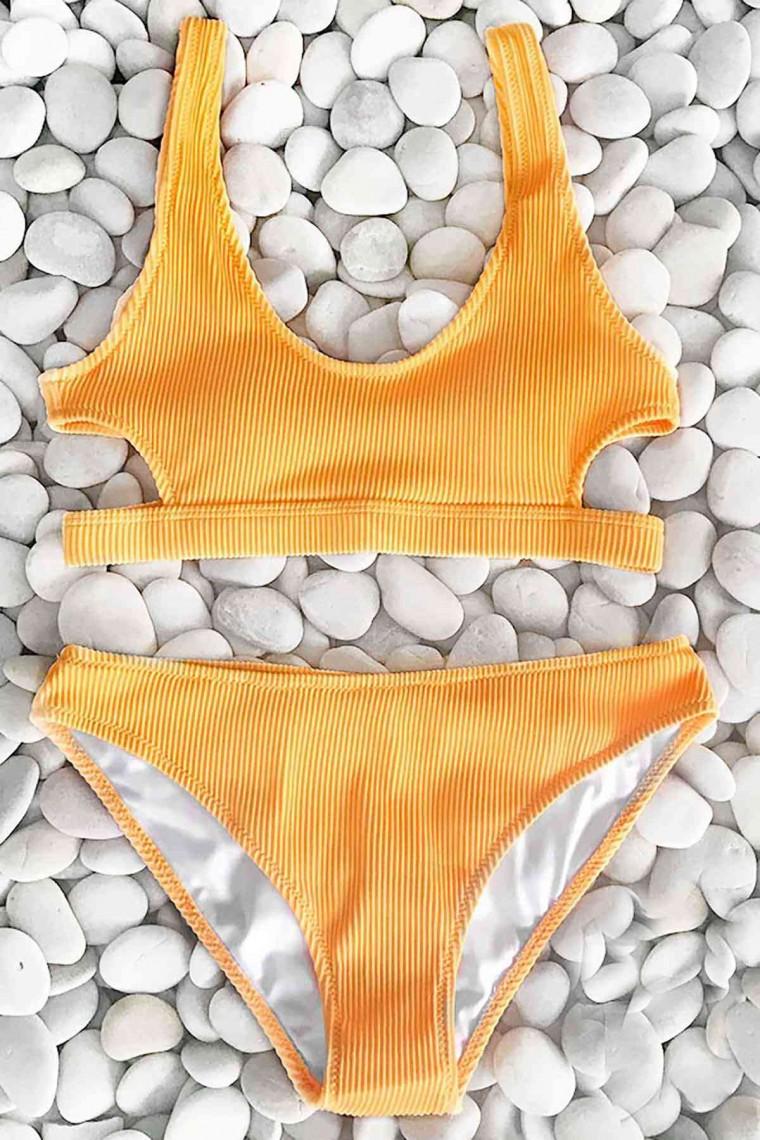 Angelsin Bikini Takım 4291-Sarı