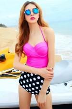 Angelsin Yüksek Bel Puantiyeli Bikini 40646