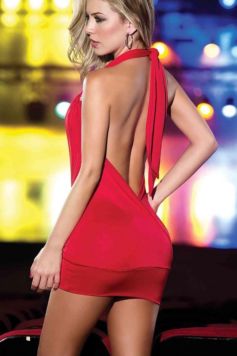 Merry See Mini Elbise Kırmızı 2436