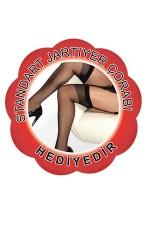 Merry See Kırmızı Jartiyerli Takım 1149-2