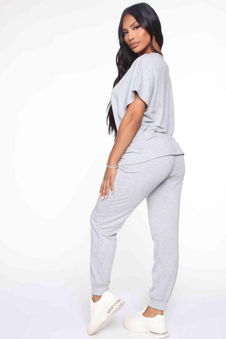 Kadın Pijama Takım Gri 4054