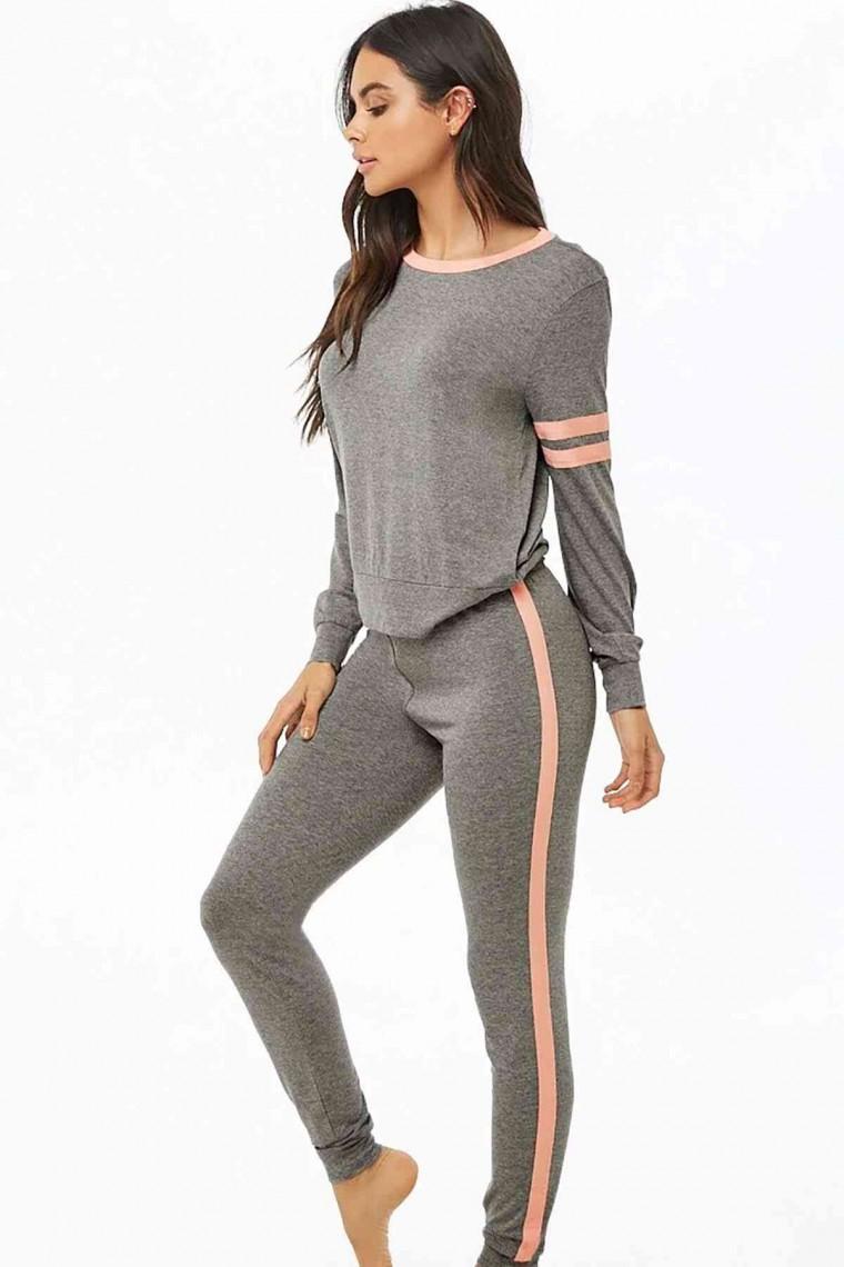 Kadın Pijama Takım Gri 4021