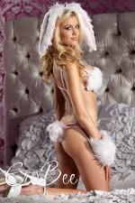 Merry See Tüylü Tavşan Kız Kostümü 8602